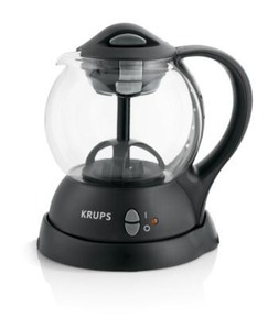 Krups FL701850 Personal Tea Kettle, Infuses Loose or Bagged Tea, 1 Liter Capacity, Internal Water Circulation System, Black