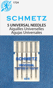 Schmetz, 150, Universal, Sewing, Machine, Needle, 130, 705H, 5, Pack, 30, Package, Magazine, Size, 60/8, 70/10, 75/11, 80/12, 90/14, 100/16, 110/18, 120/19