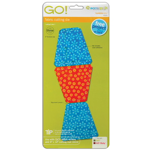 "AccuQuilt, GO!, 55015, Multiple, Tumbler, 3 1/2"", 3"", Finished, Fabric, Cutting, Die, Board, accu, quilt"