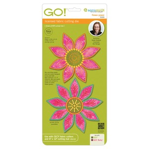 AccuQuilt GO! 55309 Flower Power Die Board by Sarah Vedeler for Cutter
