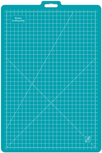 "23""X35""   -ROTARY MAT, June Tailor JT765 23x35"" Gridded Blue Rotary Cutter Cutting Mat/Handle"