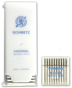 40603: Schmetz 300 Universal Point Sewing Machine Needles 130/705H 15x1 Size 9-16