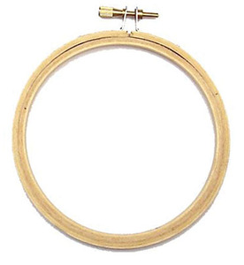 "Brewer E4"" Inch Wood Embroidery Hoop for Free Hand or Free Motion Work"