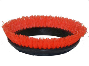 "Oreck Orbiter 237047 12"" Scrub Brush, Orange .028"" PP Bristle"