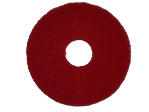 "In Stock Oreck 437055 12"" Polish Pad, Red, 5 Pads / Case only"