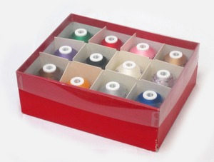 Robison, Anton, Most, Popular, 12, RA, Spool, Assorted, Color, 1100, Yard, Polyester, Machine, Embroidery, Thread, Sampler, Kit, FREE, Color, Convert, Software, DIME