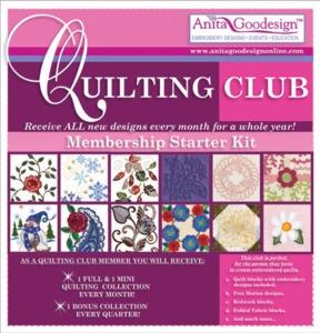 Anita Goodesigns 1 Year Full Quilting Club Membership