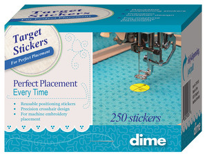 DIME Target Stickers 250 Pack for Perfect Embroidery Placement