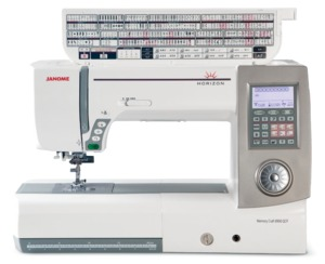 """Janome 8900QCPHorizon Memory Craft 270Stitch Sewing Quilting Machine, 9mm Width, 11""""Arm, Detach AcuFeed, 1000SPM, SS&ZZ Plate, Knee Lift, 91Needle Pos"""
