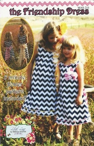 Lilac Lane Patterns LL211 The Friendship Dress #211 sz 2T-10yrs