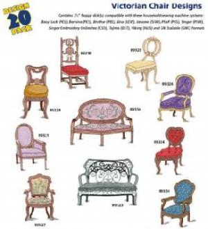 Amazing Designs Great Notions 1232 Victorian Chair I Multi-Format Embroidery Designs CD
