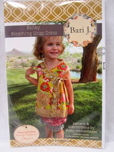 "Bari J. Bailey Blooming Wrap Dress Pattern and Instructions by Suzy-Homemaker Includes Bonus ""Cutie-bootie"" Bloomer Pattern Sizes 6mo-6yr"