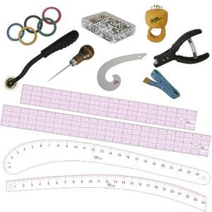 PGM Pro 808RS-2A Fashion Design 4 Rulers +8 Tools, 12 Piece Kit Set