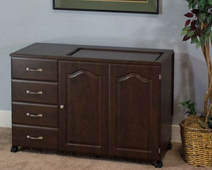 "Fashion, Sewing, Cabinets, 5610, Sewing, Cabinet, Premium, 4, Drawer, Cabinet, Opening, 27"", x 12.5"""