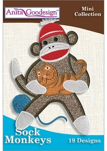 Anita Goodesign 145MAGHD Sock Monkeys Design Collection