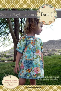 Bari J. Bailey Zophia Playtime Dress Pattern and Instruction by Suzy-Homemaker Size 6mo-6 Years