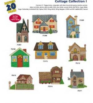 Amazing Designs 1235 Cottage I Embroidery Disks