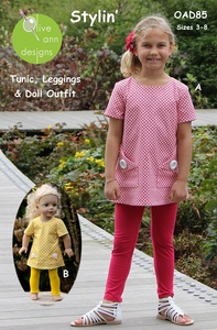 Olive Ann Designs OAD85 Stylin' Dress and Matching Doll Dress, sz 3-10