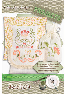 Anita Goodesign PROJ06 Sachets Embroidery Designs Collection
