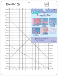 "June Tailor JTQ797 Shapecuts+12x18"" Grid Ruler Slots for Cutting Strips"