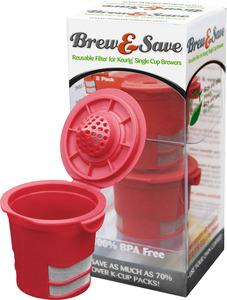 Ekobrew 40141 Brew & Save Reusable Filter, Keurig Coffee Pod Brewers