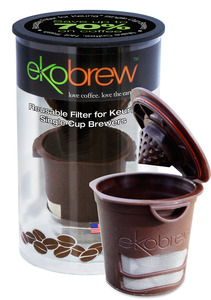 Ekobrew 40104 Reusable Filter Keurig Coffee Pod Capsule Brewers
