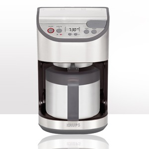 Krups KT611D50 10 Cup Stainless Steel Automatic Drip Coffee Maker with Thermal Carafe,