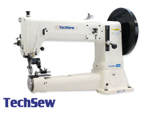 "Techsew 5100SE 16.5"" Cylinder Bed Leather Stitcher Machine and Stand"