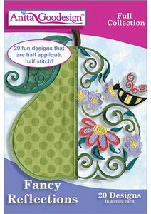 Anita Goodesign 218AGHD Fancy Reflections Full Collection 20 Designs 3 Sizes Each Full Collection Multi-format Embroidery Design Pack on CD