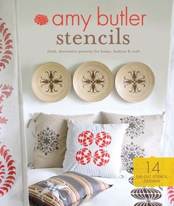 Amy Butler CB07745 Stencils Cut Outs, 14 Reusable Die-Cut Stencil Designs, Includes 24 Page Booklet, Fresh Decorative Patterns for Home Fashion Crafts