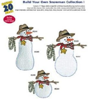 Amazing Designs Great Notions 1237 Build Your Own Snowman I Multi-Formatted CD