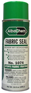 Albatross, AlbaChem, 1074, Fabric Sealant, Adhesive Spray, 12 oz Cans, x 6 Pack, Prevents Fabric, Fraying, Edges, Corners, Seams, Perfect, for the, Cutting Room