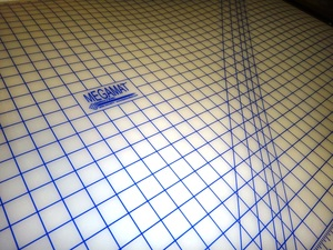 """SewFit SFT32X60"""" Translucent Mega Cutting Mat, Pinnable Grid Styrene, for Rotary Cutters"""