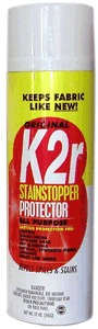K2R 33401 Stain Stopper Fabric Protector 12 oz. Aerosol Spray Cans 6 Pack, Prevents Stains & Dirt Spots, Upholstery Blankets Pillows Tablecloths Shoes
