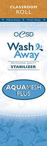 "OESD STAB-WAMP AquaMesh Plus Wash-Away Stabilizer White 10"" X 2 yards"