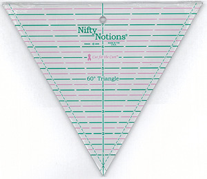 Nifty Notions NN60D Cut for the Cure 60 Degree Triangle Ruler