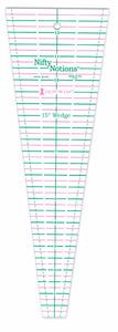 Nifty Notions NN15D Cut for the Cure 15° Wedge or Triangle Plate Ruler