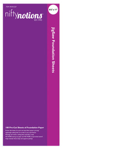 "Nifty Notions NN1227 Pieces Dream 100 Pre-Cut Sheets of  8""X10"" Printer Safe Foundation Paper"