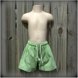 Embroidery Blanks Boutique Swim Trunks, Lime Green Size: 4T