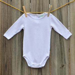 Embroidery Blanks Boutique Long Sleeve Onesie, Plain Sleeve Size: 3-6 Mos