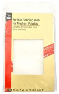 Dritz 261 Fusible Bonding Web for Medium Fabrics 18 in x 1 yd