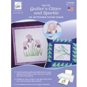 June Tailor JT-875 Quilter's Glitter and Sparkle (2 sheets/pack) Inkjet Printable Transfer Sheets