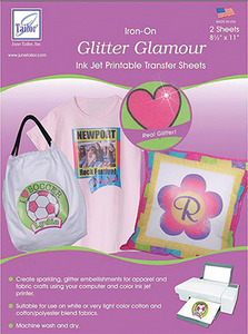 June Tailor JT-870A Glitter Glamour (2 sheets/pack) Inkjet Printable Transfer Sheets