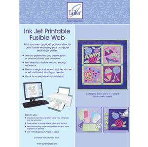 """June Tailor JT-407 InkJet Printable Fusible Web 6Pk 8.5x11"""" Sheets"""