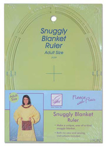 June Tailor Fleece With Flair JT-239 Snuggly Blanket Template Ruler Adult Size