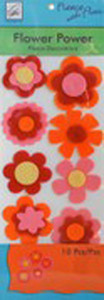 June Tailor Fleece With Flair JT-216 Flower Power Fleece Decorations (Pink/Orange)