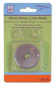June Tailor Fleece with Flair JT-188 Straight Rotary Cutter 45mm Replacement Blade for June Tailor Fleece Rotary Cutter