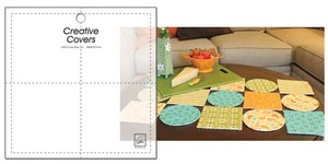 June Tailor JT-1701 Creative Covers Square Shape Template for Openwork Designs Quilts