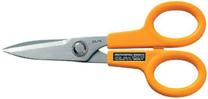 "Olfa SCS-1 5"" Stainless Steel Scissors Sharp and Serrated for Precision Cuts Right to the Tip"