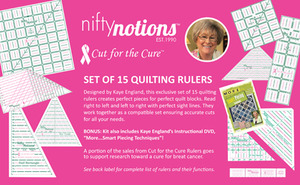 Nifty, Notions, Cut, for, the, Cure, 15, Rulers, Smart, Piecing, DVD